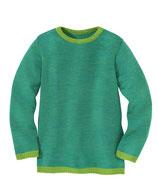 Bio Woll-Pullover Melange in Grün - Blau von Disana