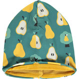 NEU: Mütze mit goldenen Birnen und Velours Innenseite von Maxomorra