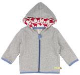 SALE: Super weiche Baumwoll-Fleece Jacke in Grau von Loud+Proud