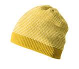 Neu: Woll-Strickmütze Melange in Gelb-Natur von Disana