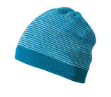 Neu: Woll-Strickmütze Melange in Blau-Natur von Disana