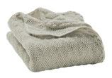 Baby-Wolldecke gestrickt in grau von Disana
