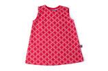 SALE: Hübsches Jacquard-Kleid rot/écru gemustert von Froy&Dind