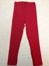 Leggings Wolle/Seide uni Rot bis Grösse 176