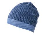 Neu: Woll-Strickmütze Melange in Blautönen von Disana