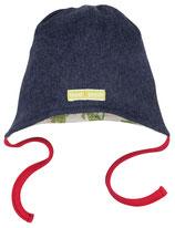 SALE: Wende-Mütze aus wunderbar weichem Baumwoll-Fleece in Dunkelblau von Loud+Proud