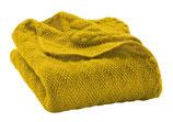 Baby-Wolldecke gestrickt in curry von Disana