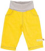 SALE: Cordhose Gelb mit grau gestreiftem Bund von Loud+Proud