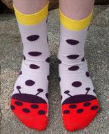 Socken mit Marienkäfer in Violett von DUNS