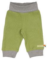 SALE: Traumhafte Bio-Baumwoll-Fleece Hose in Grün und grauem Bund von Loud+Proud