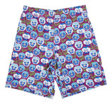NEU: Shorts mit Veilchen auf Blau/Violet von DUNS