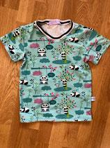 T-Shirt Pandabären mint