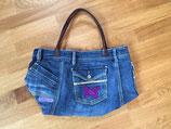 Tasche aus alten Jeans, Schmetterling