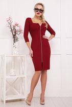 Платье бордо АРТ-355