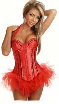 Красный Корсет с юбкой
