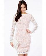 Кружевное белое платье АТР-340-4