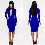 Модное синее платье АРТ-3023