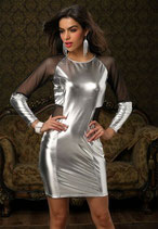 Серебристое платье АРТ-400-3-66
