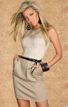 Бежевое платье АРТ-368-5