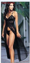 Черная длинная сорочка АРТ-601-12