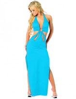 Голубое длинное платье АРТ-369-1