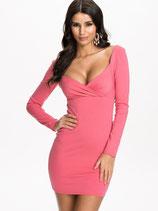 Розовое платье с длинными руковами АРТ-304-4