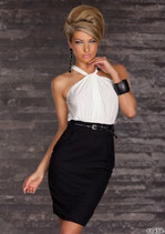 Черно-белое платье АРТ-302-5