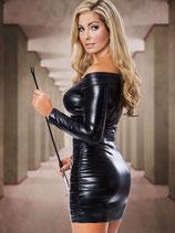 Черное платье с длинными рукавами АРТ-405-55