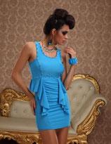 Платье голубое АРТ-387.2