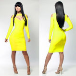 Модное желтое платье АРТ-3024