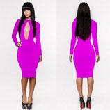 Модное розовое платье АРТ-3022