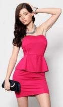 Платье с баской АРТ-3087