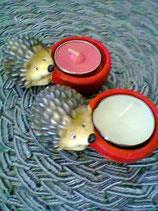 Igel mit Teelicht