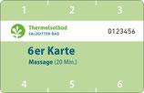 6er Karte Massage