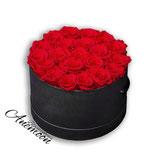 Bloemenbox rond zwart