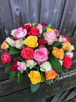 Kleurenmix rozen boeket
