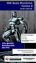 Buste protettive fumetti COMICS 2 misura 18 cm x 26,5 cm