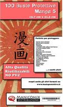 Buste protettive fumetti MANGA 5 misura 15,7 cm x 21,3 cm
