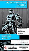 Buste protettive fumetti COMICS 3 misura 18,5 cm x 26,5 cm
