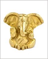 Ganesha 3 cm sitzend, Messing