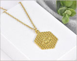 Blume des Lebens Halskette vergoldet / Edelstahl 4
