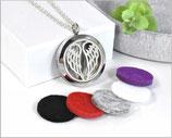 Aroma Medaillon Halskette Schutzengel mit 5 Filzpads