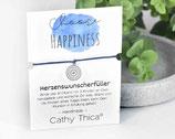 """Wunscherfüller Armband """"Choose happiness"""" mit Mandala Anhänger, Spruchkarte und Bandfarbe nach Wahl"""