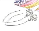 Lange Ohrhänger mit Mandala 10mm
