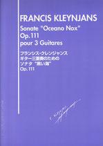 【楽譜】クレンジャンス:ギター三重奏のためのソナタ「黒い海」