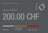 200 Franken Gutschein