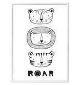 """POSTER Tiger """"Roar"""""""