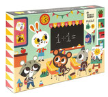 PUZZLE At school, 24 Teile - Petit Monkey