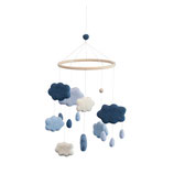 Filz-BABYMOBILE Wolken in königsblau von sebra