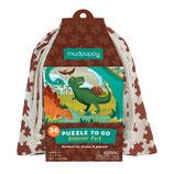 PUZZLE TO GO Dinosaurier - mudpuppy